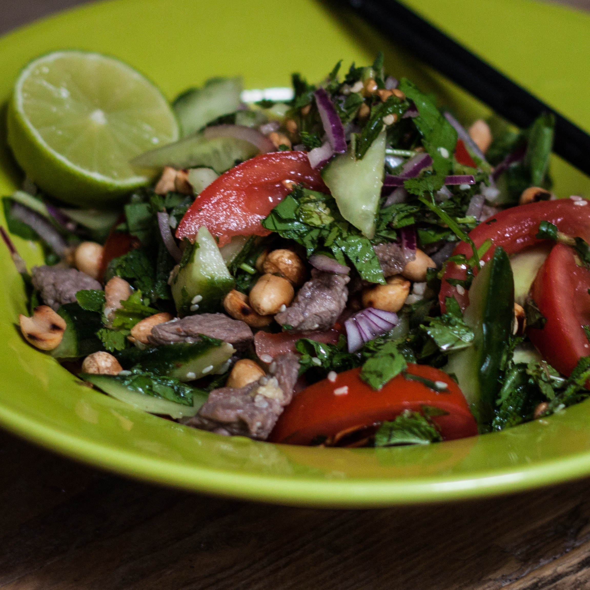 Pittige Lunch // Thai beef salad